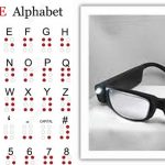 Braille-and-magnifier